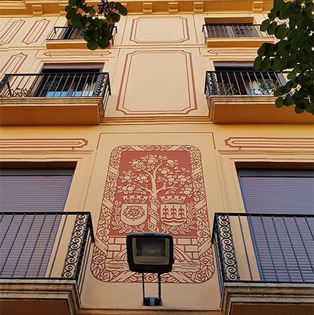 Pintura fachada catalogada Reus