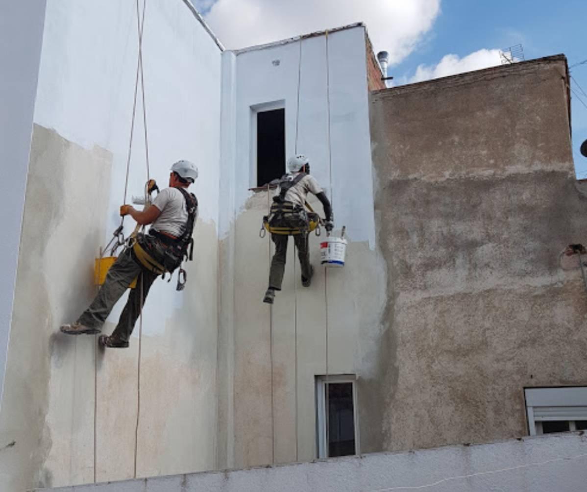 pintura fachada trabajos verticales