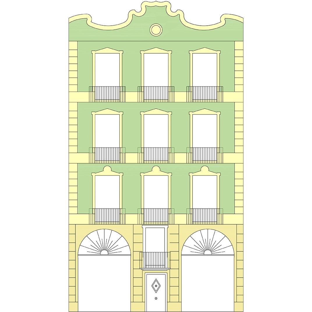 diseño de fachada modernista casa Buqueras
