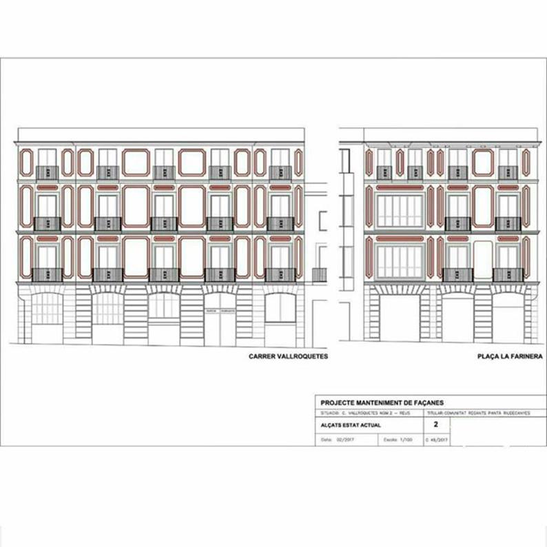 Proyecto fachada modernista Reus arquitectura