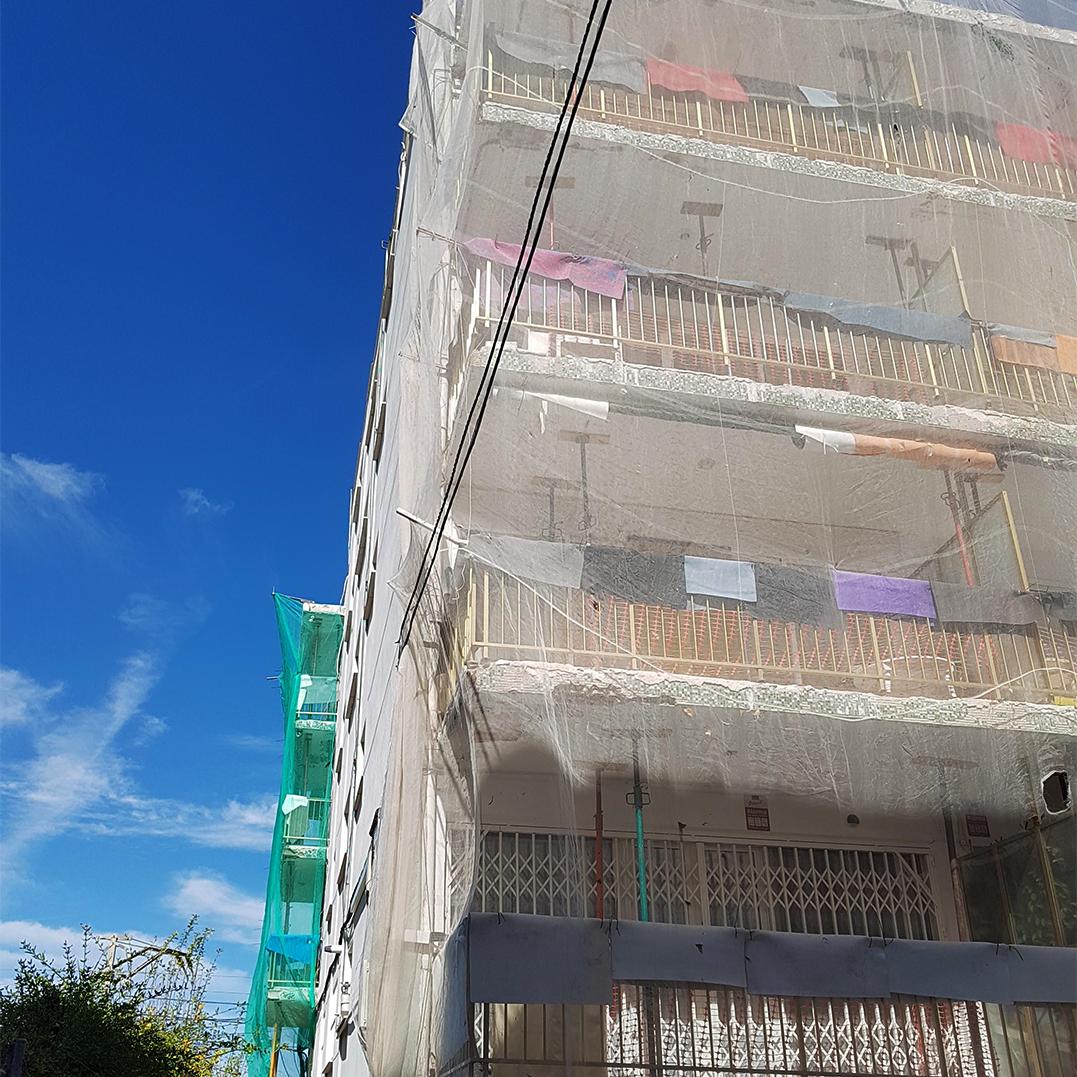 Rehabilitación fachada aluminosis